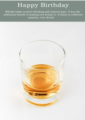 Whisky-Birthday Card